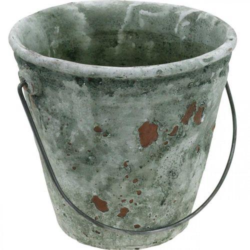 Wiaderko dekoracyjne, doniczka, wiaderko ceramiczne Antique Look Ø19,5cm H19cm
