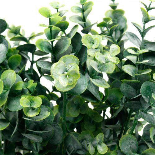 Deco Eukaliptus Gałązka Ciemnozielony Sztuczny Eukaliptus Sztuczne Rośliny Zielone 6szt
