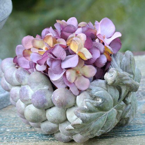 Deco Bowl Grapes Grey Purple Cream 19×14cm H9,5cm