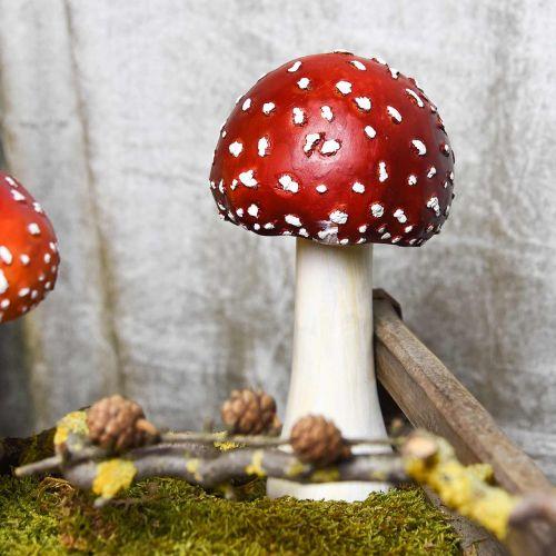 Deco muchomor czerwony, biały, jesienny dekoracja grzyb Ø10,5cm H21cm