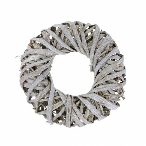 Wieniec Deco liana wood white washed Ø30cm