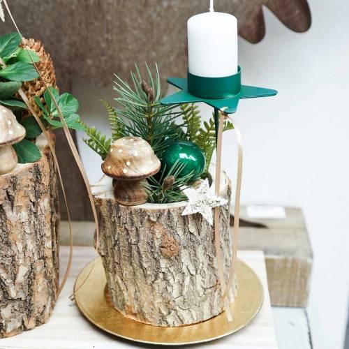 Dekoracja grzybek drewniany natura 5cm 6szt