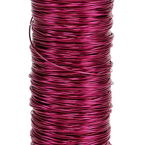 Drut dekoracyjny emaliowany Ø0,30mm 30g/50m Różowy