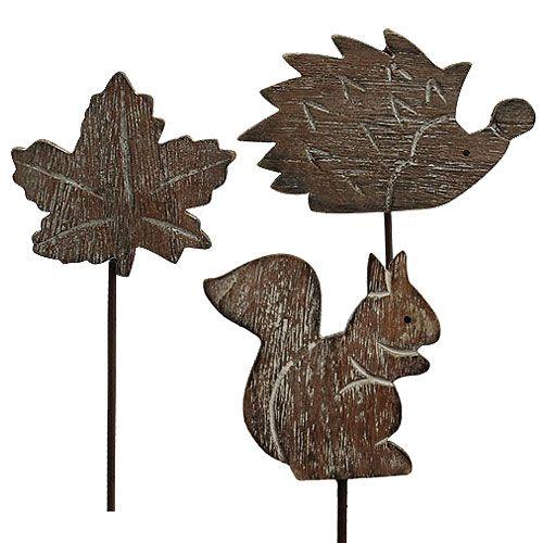 Przypinka kwiatowa 5cm - 6cm motywy jesienne 12szt.