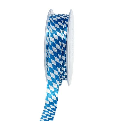 Wstążka dekoracyjna niebiesko-biała 15mm 20m