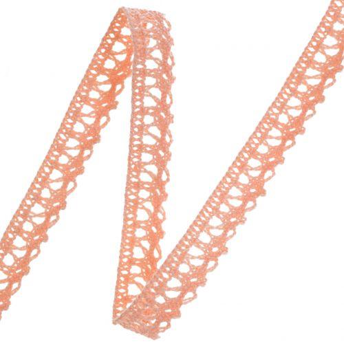 Wstążka ozdobna koronka szydełkowa 12mm 20m