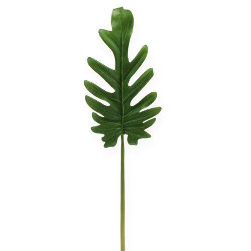 Liście dekoracyjne Filodendron Zielony W11cm L34cm 6szt