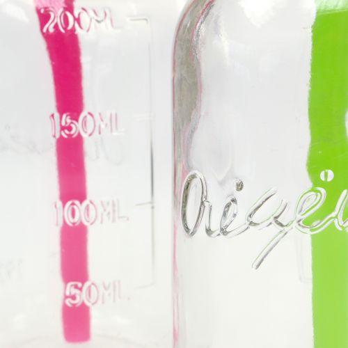 Dekoracyjne butelki z pokrywką i słomką H14,5cm