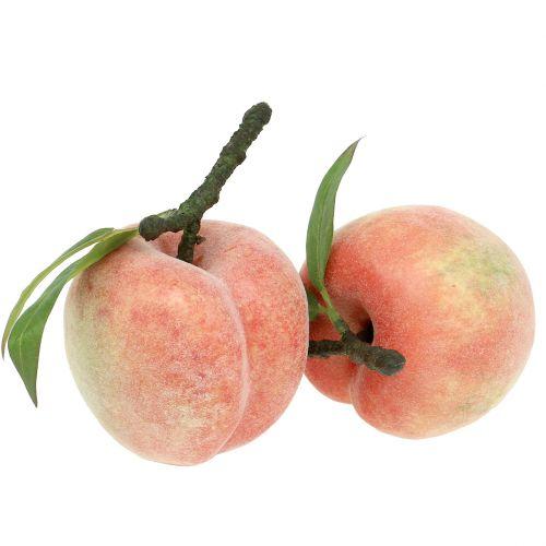 Dekoracyjny owoc brzoskwiniowy różowy Ø8cm L10cm 4szt.
