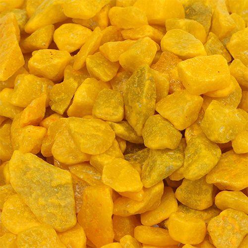 Kamienie ozdobne 9mm - 13mm żółte 2kg