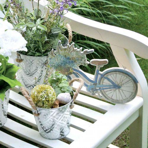 Dekoracyjna doniczka metalowa, doniczka z motywem kwiatowym, doniczka metalowa do sadzenia roślin Ø20,5cm