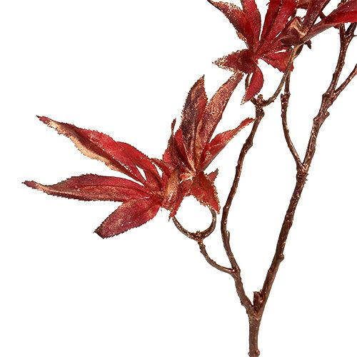 Gałązka dekoracyjna ciemnoczerwona z miką 52cm