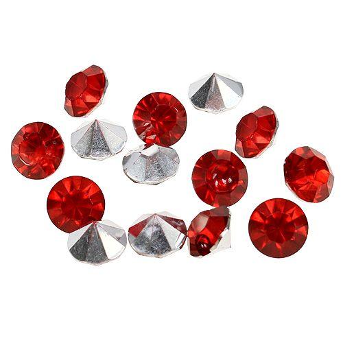 Diamenty Akryl 8mm Czerwony 50g