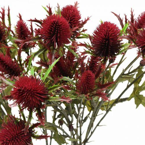 Oset Sztuczny Kwiat Czerwony Burgundowy 10 główek kwiatowych 68cm 3szt.