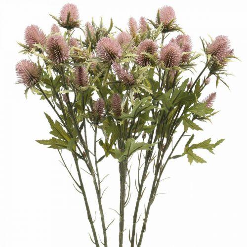 Oset Sztuczny kwiat łodygi różowy 10 główek 68cm 3szt.