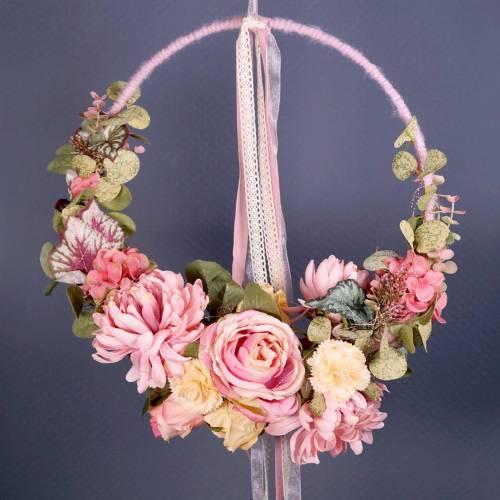 Nić odprowadzająca wilgoć sznurek filcowy różowy 55m