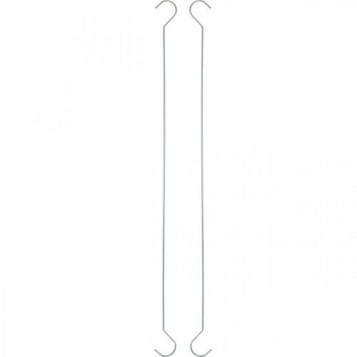 Haczyk metalowy, podwójny srebrny XL L40cm 5szt.