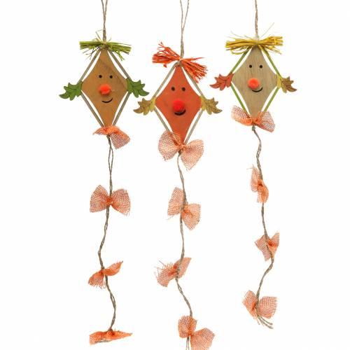 Jesienna dekoracja latawiec do zawieszenia 10,5cm x 11cm 6szt