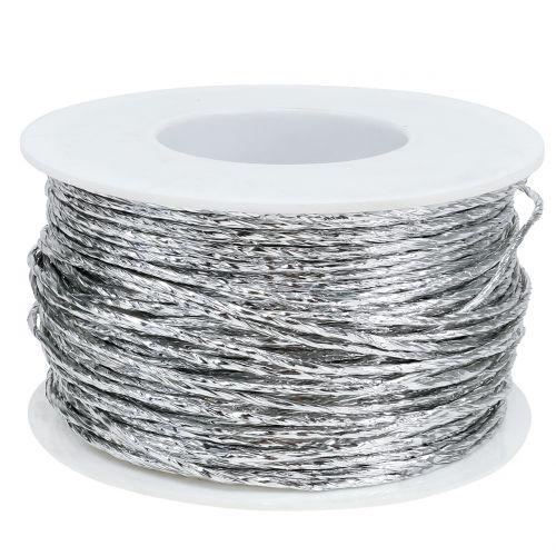 Owijane drutem srebrnym Ø2mm 100m