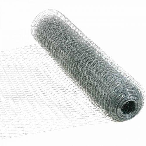 Hexagonal Braid Wire Silver Galvanized Rabbit Wire 50cm×10m