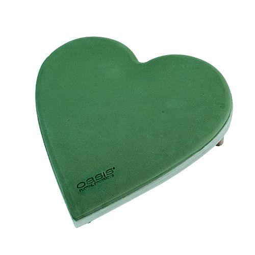 Serce piankowe z zatyczką click system Zielone 20cm 2szt