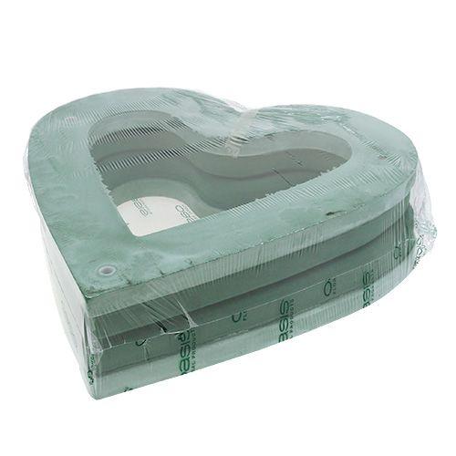 Pianka korkowa serce otwarte masa korkowa zielona 38cm 2szt dekoracja ślubna