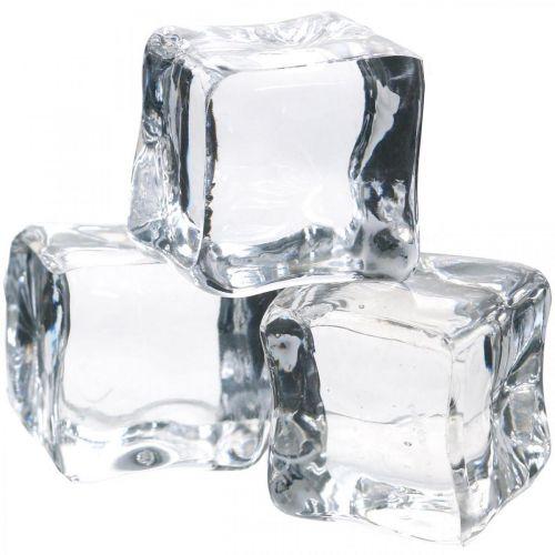 Dekoracyjne kostki lodu, letnia dekoracja, sztuczny lód 3cm 6szt.