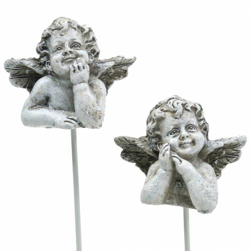 Dekoracja grobu zatyczka aniołek 3,5cm 8szt.