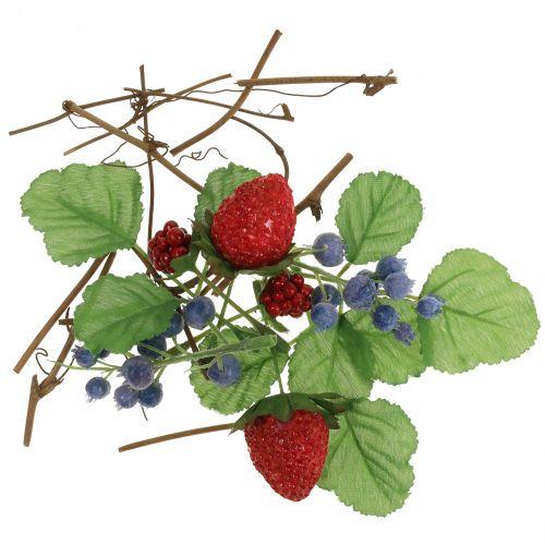 Zestaw rzemieślniczy jagody, dekoracyjne gałęzie i liście