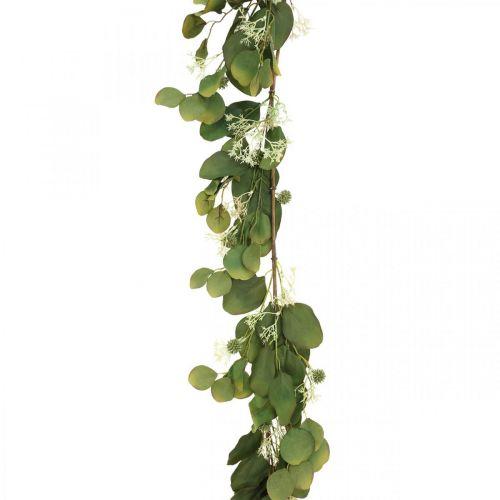 Sztuczna girlanda eukaliptusowa z ostami jesienna dekoracja 150cm