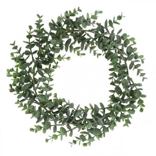 Wieniec dekoracyjny Eukaliptus Zielony Sztuczny Wieniec Eukaliptusowy Ø32cm