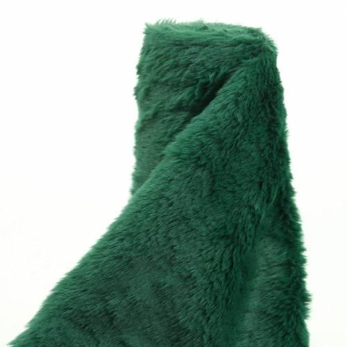 Wstążka futerkowa Deco ciemnozielona 20cm x 200cm