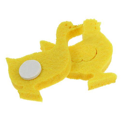 Filcowa kaczka, kurczak samoprzylepny żółty 96szt