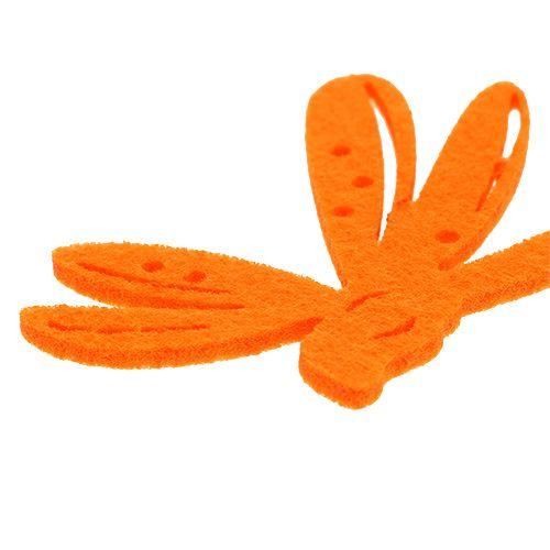 Filcowa ozdoba rozproszona pomarańczowa 24szt