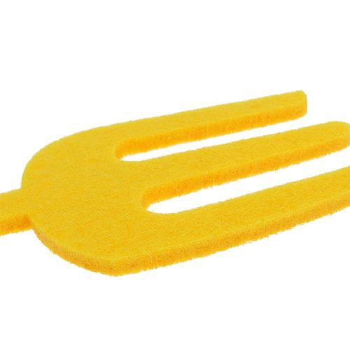 Filcowe narzędzie ogrodowe żółte 6szt