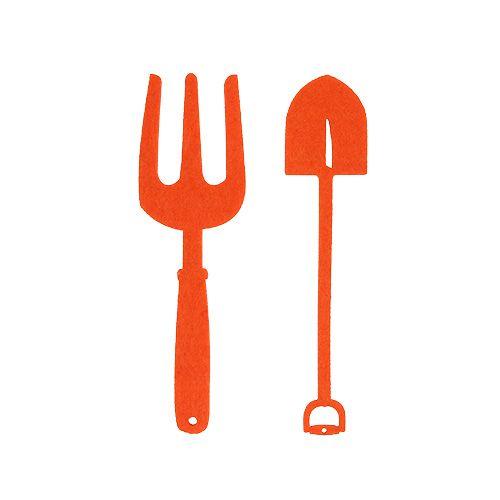 Filcowe narzędzie ogrodnicze pomarańczowe 6szt