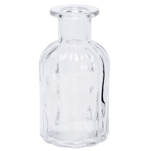 Dekoracja butelka wazon na kwiaty Ø7,5cm H13,5cm przezroczysty 6szt