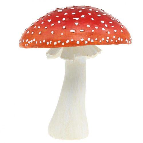 Deco muchomor czerwony, biały Dekoracja stołu jesienny grzyb Ø16cm H19cm