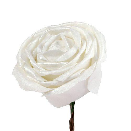 Piana różowo biała z masą perłową Ø10cm 6szt