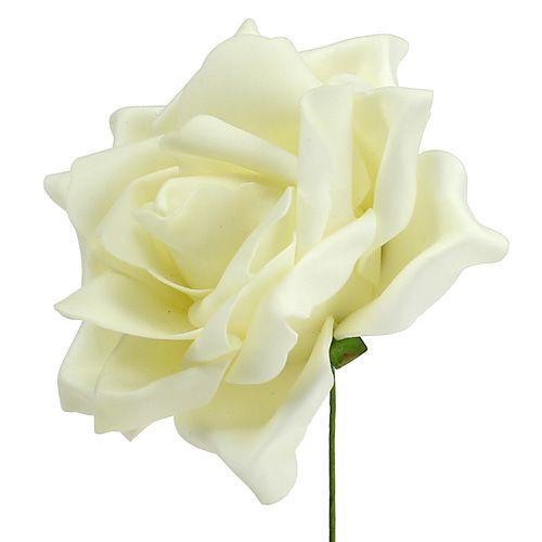 Róże piankowe kremowe Ø15cm 4szt.