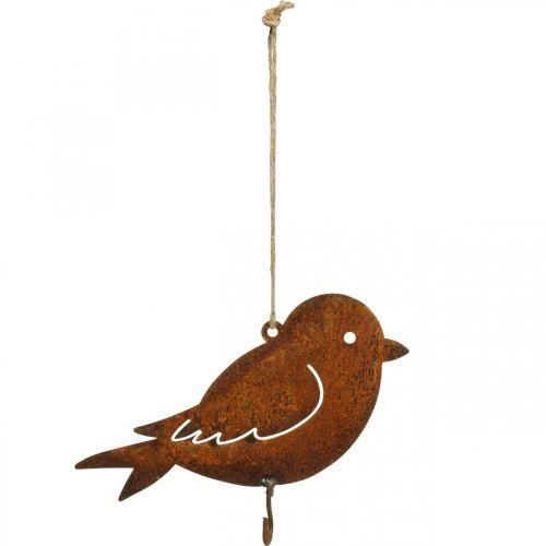 Deco Bird, wieszak na żywność, metalowy Deco Rust 19×13,5cm