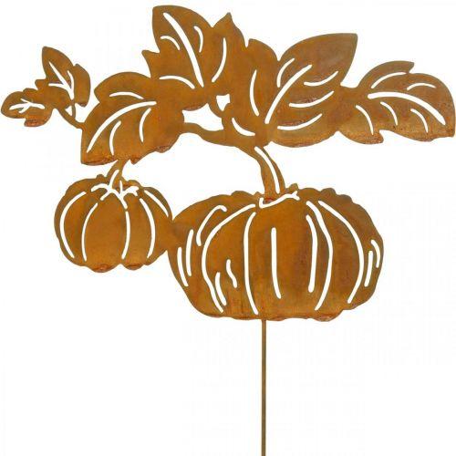 Korek ogrodowy dynia rdza dekoracja ogrodu jesień metal 57cm