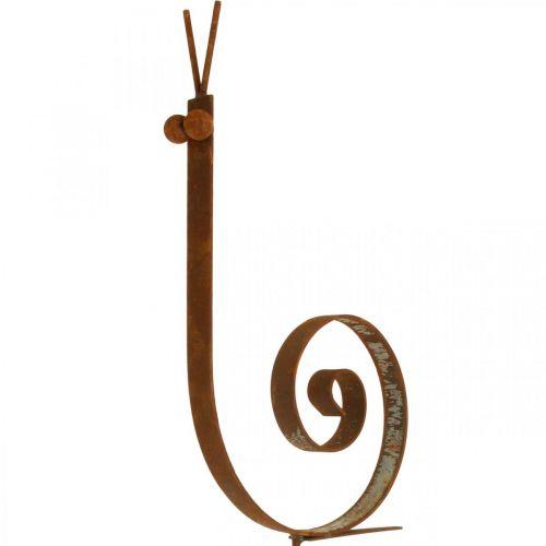 Ślimak ogrodowy duży rust metalowa dekoracja ogrodowa H94cm