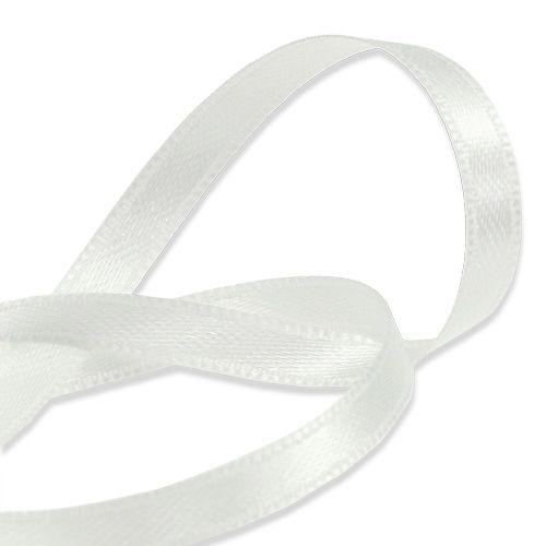 Wstążka prezentowa i dekoracyjna biała 6mm 50m