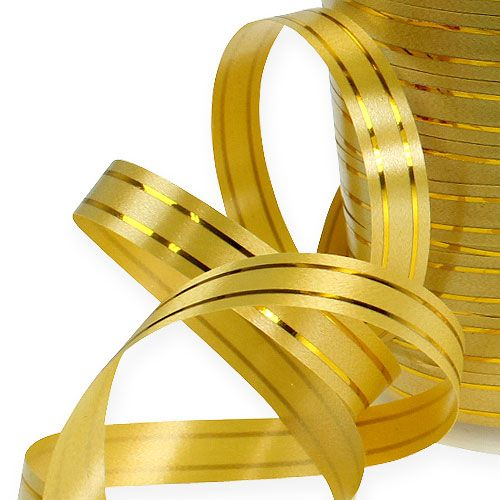 Taśma dzielona 2 złote paski na złocie 10mm 250m