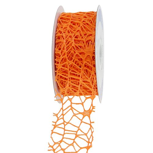 Taśma kratowa pomarańczowa 40mm 10m