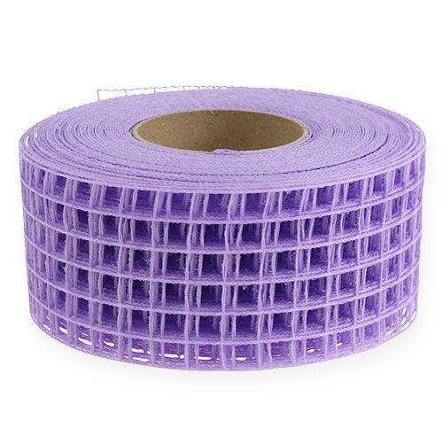 Taśma kratowa 4,5cm x 10m lilac