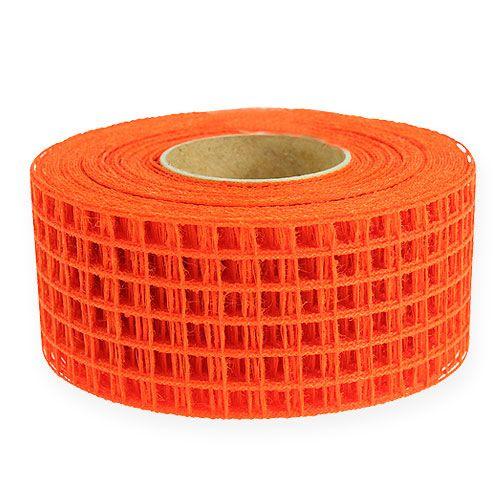 Taśma kratowa 4,5cm x 10m pomarańczowa