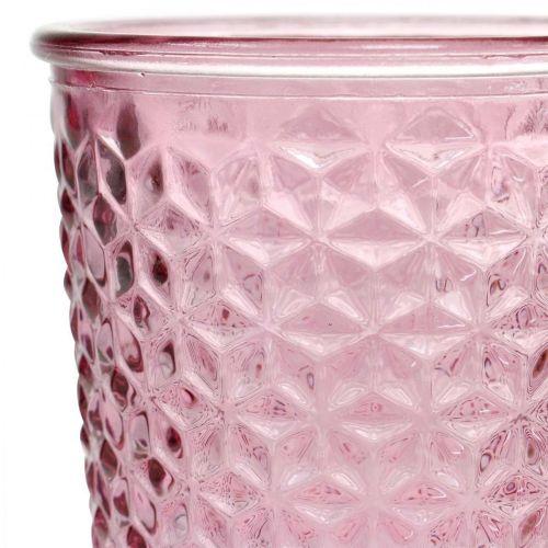 Kieliszek na świecę, puchar, lampion, dekoracja szklana Ø10cm H18,5cm