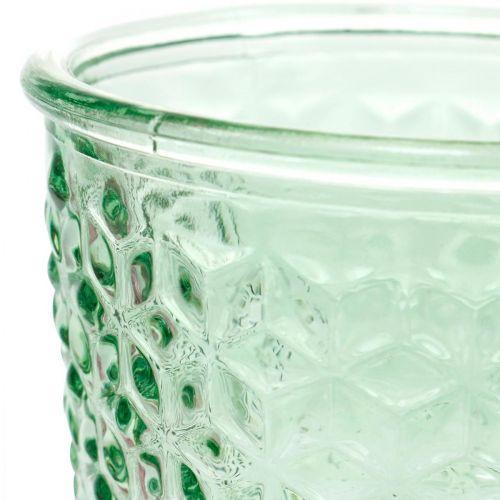 Lampion szklany, puchar szklany z nóżką, słoik szklany Ø10cm H18,5cm